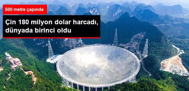 Çin Dünyanın En Büyük Teleskobunu Yaptı