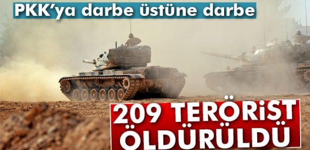 Çukurca'da etkisiz hale getirilen terörist sayısı 209'a ulaştı