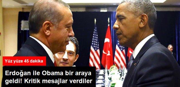 Cumhurbaşkanı Erdoğan, ABD Başkanı Obama ile Bir Araya Geldi