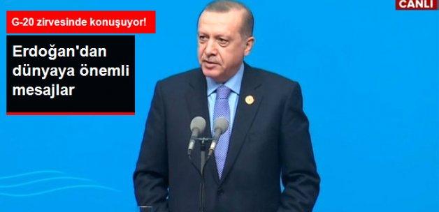 Cumhurbaşkanı Erdoğan, G20'de Konuşuyor
