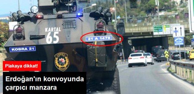 Cumhurbaşkanı Erdoğan'ın Konvoyunda Zırhlı Araç