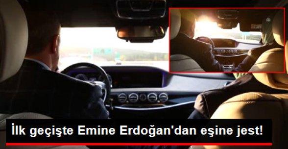 Cumhurbaşkanı Erdoğan Kendi Kullandığı Araçla 3'üncü Köprüden Geçti