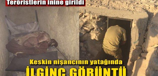 DAEŞ'li teröristlerin tünelinde ilginç görüntü