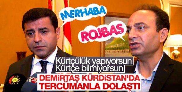 Demirtaş'a Kürtçe tercüme