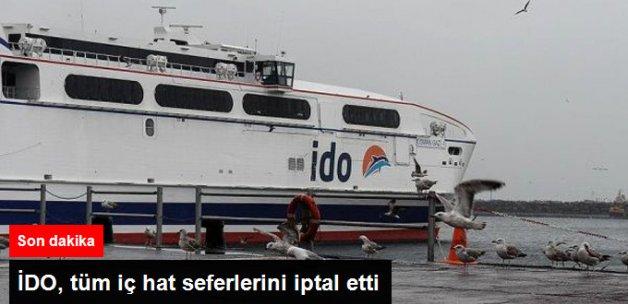 Deniz Ulaşımına Lodos Engeli! İDO Tüm İç Hat Seferlerini İptal Etti