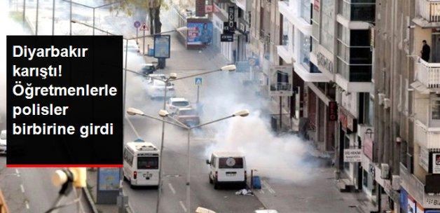 Diyarbakır'da Öğretmenlerin Protestosunda Olaylar Çıktı