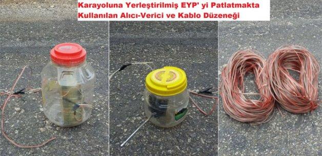 Diyarbakır'da yola tuzaklanmış EYP ele geçirildi