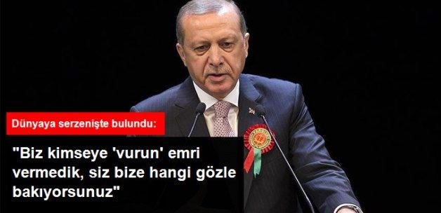 Erdoğan: Biz 'Darbecileri Vurun' Emri Vermedik, Yakalayıp Adalete Teslim Ediyoruz