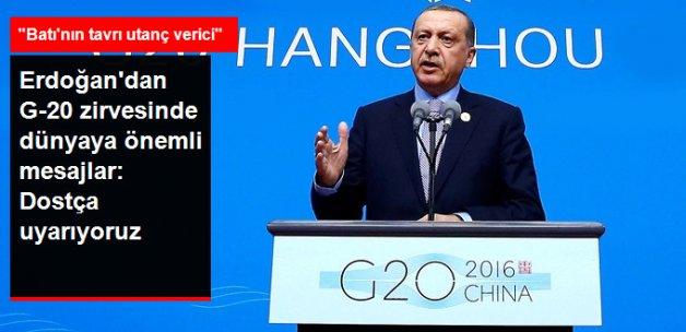 Erdoğan'dan G20'de Dünyaya Önemli Mesajlar: Batı Ülkelerinin Irkçı Tavrı Utanç Verici