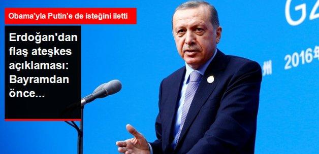 Erdoğan: Kurban Bayramı Öncesi Suriye'de Ateşkes Hedefliyoruz