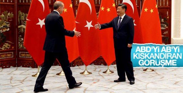 Erdoğan, Şi Cinping ile görüştü