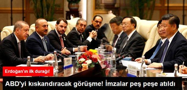 Erdoğan, Yükselen Güç Çin'in Cumhurbaşkanı Şi Cinping ile Görüştü