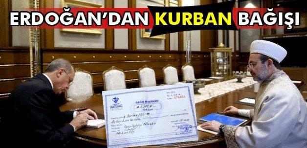 Erdoğan'dan Diyanet'e kurban bağışı