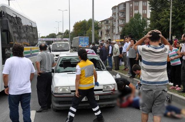 Ereğli'de otomobilin çarptığı kadın yaralandı