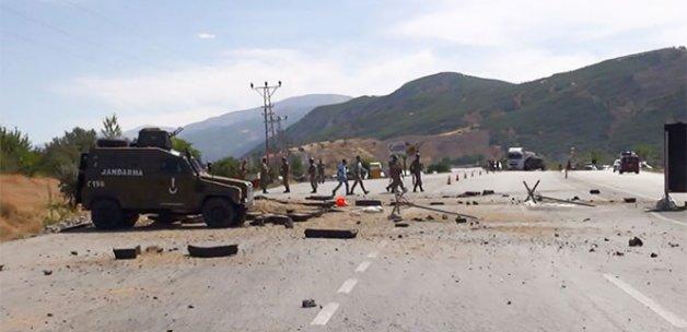 Erzincan- Erzurum Karayolunda uzaktan kumandalı patlama