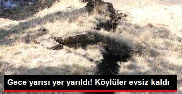 Erzincan Refahiye'de Heyelan Oldu 24 Ev Boşaltıldı