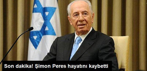 Eski İsrail Cumhurbaşkanı Şimon Peres, Hayatını Kaybetti
