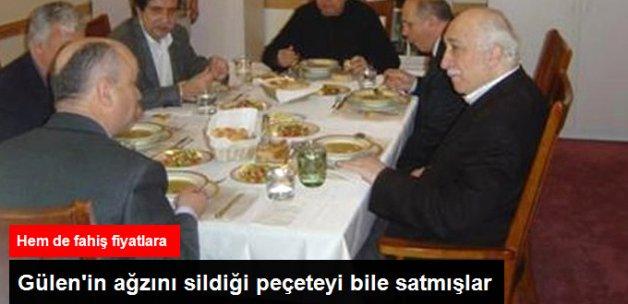 Fethullah Gülen'in Ağzını Sildiği Mendili Fahiş Fiyata Satmışlar