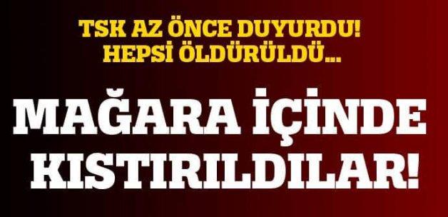 Hakkari Çukurca'da 7 PKK'lı terörist öldürüldü