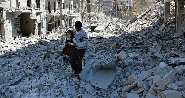Halep'te yerleşim yerine bombalı saldırı