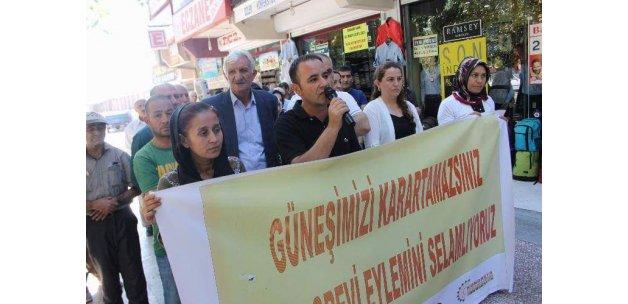 HDP ve DBP'nin basın açıklamasına 20 kişi katıldı