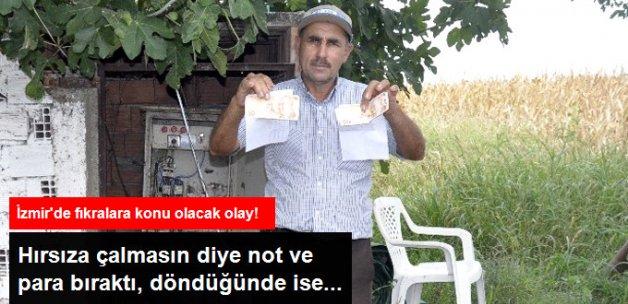Hırsıza Çalmaması İçin Not ve Para Bıraktı, Hırsız da Aynısını Ona Yaptı