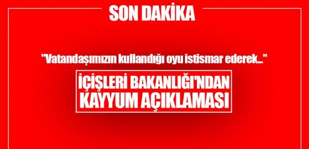 """İçişleri Bakanlığı: """"28 belediyeye kayyum atandı"""""""