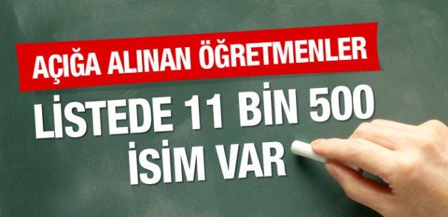 İhraç edilecek 11 bin 500 açığa alınan öğretmenler listesi