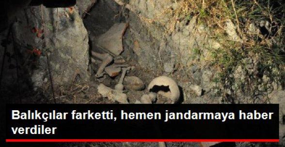İnegöl'de Boğazköy Barajı Yakınında Çömlek ve İnsan Kemikleri Bulundu
