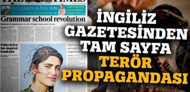 İngiliz Times, YPG'li teröristi kapak yapıp övgüler dizdi