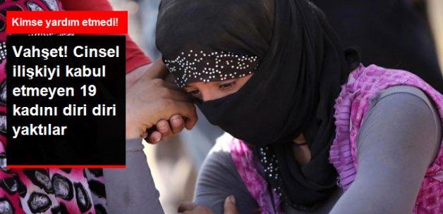 IŞİD Cinsel İlişkiyi Kabul Etmeyen 19 Ezidi Kadını Diri Diri Yaktı
