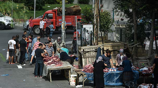 İstanbul'da kaçak kesim manzaraları