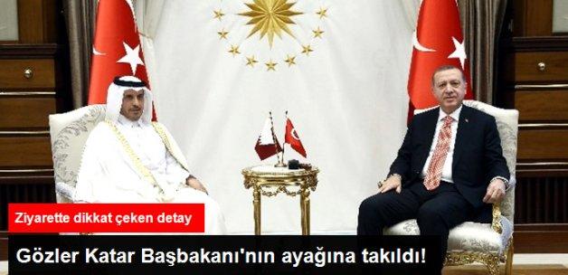 Katar Başbakanı'nın Ankara Ziyaretinde Terlik Giymesi Dikkat Çekti