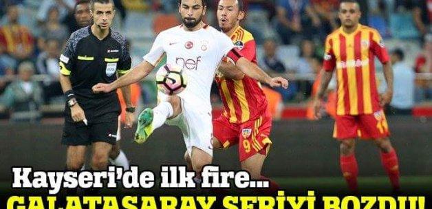 Kayserispor Galatasaray 1-1 maç özeti ve golleri