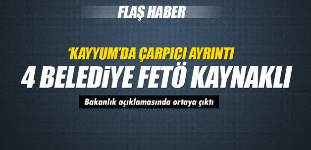 Kayyum atanan belediyelerden 4'ü FETÖ'den