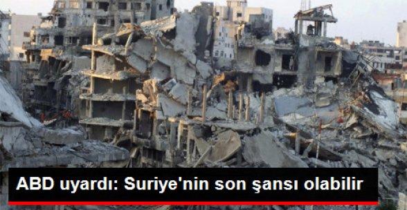 Kerry: Ateşkes Suriye'nin Son Şansı Olabilir
