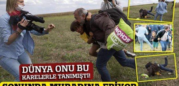 Macar kameramanın çelme taktığı Suriyelinin aile hasreti son buluyor