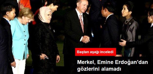Merkel, Emine Erdoğan'dan Gözlerini Alamadı