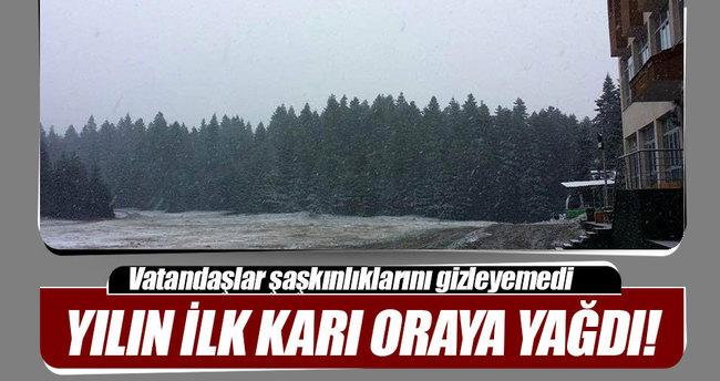 Mevsimin ilk karı Bolu'ya yağdı