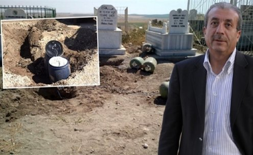 Mezarlığa bomba yerleştirilmesiyle ilgili soruşturmada 13 gözaltı