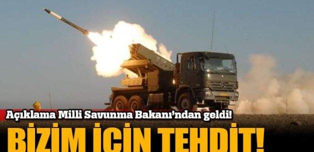 Milli Savunma Bakanı: Bizim için tehdit