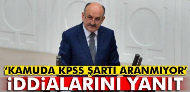 Müezzinoğlu'ndan 'kamuda KPSS şartı aranmıyor' iddialarını yanıt