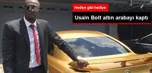 Nissan, Altın Kaplama Aracı Usain Bolt'a Hediye Etti