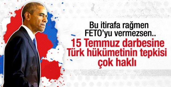 Obama'dan 15 Temmuz itirafı: Türkiye'nin tepkisi haklı
