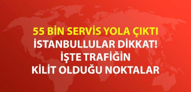 Okulların Açıldığı İlk Gün İstanbul Trafiğe 'Merhaba' Dedi