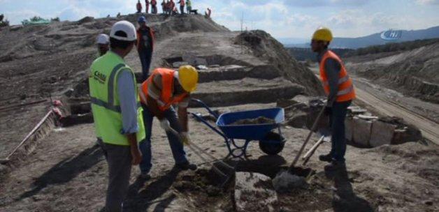 Otoyol inşaatında Erken Bizans mezarları bulundu
