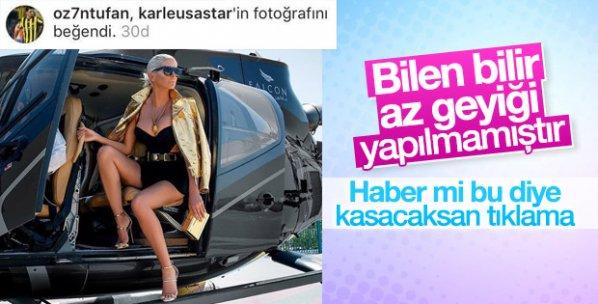 Ozan Tufan Jelena Karleusa'nın fotoğrafını beğendi