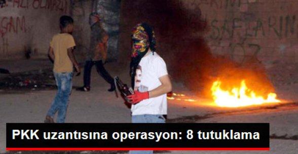 PKK Gençlik Yapılanmasından 8 Kişi Tutuklandı