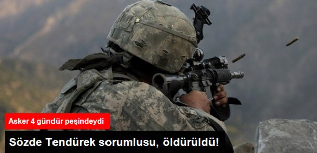 PKK'nın, Sözde Tendürek Sorumlusu Öldürüldü