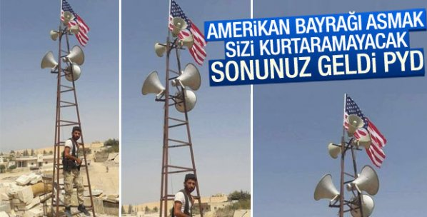 PYD'nin Amerikan bayrağı hilesi